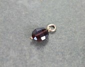 Rare Pink Tourmaline Pendant, 14k Gold Filled Charm October Birthstone - Add a Dangle