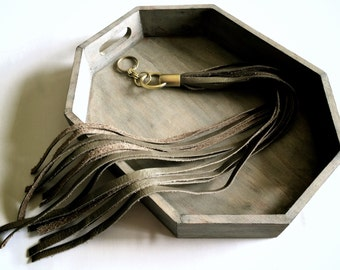 leather purse charm | long leather tassel | tassel keyring | purse tassel | bag accessory | leather tassel keychain | leather key fob