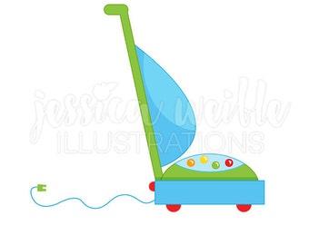 Vacuum Cleaner Cute Digital Clipart, Vacuum Clip art, Cleaning Graphics, Chores Clipart, Vacuum Cleaner Illustration, #141