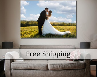 10 Year Anniversary Gift, Canvas Print, Custom Made Canvas Printing, Your Photo On Canvas