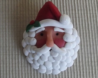 hand sculpted polymer clay old world St. Nick tree ornament