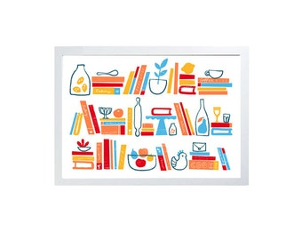 """Cooking & Poetry -  27""""x20"""" - archival fine art giclée print"""