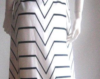 70s vtg party op art dress