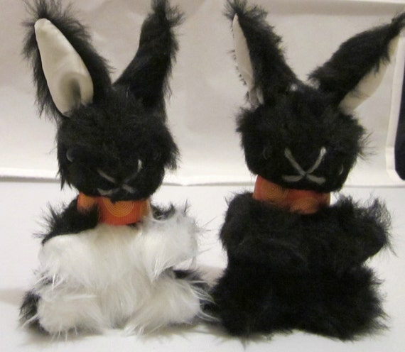 Black And White Toys For Tots : Baby black bunny rabbit stuffed and white toy cool