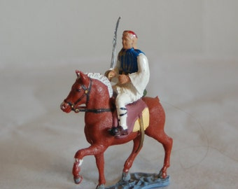 Vintage Athena Aohna Evzones Guard on Horseback ~ Bright Paint