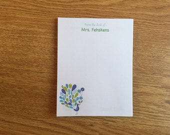 Personalized Notepad, Teacher Gift, Personalized gift, Custom Notepad, Parent NotePad