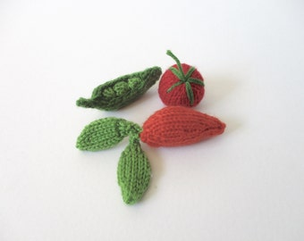 Fruit and Vegetables toy food knitting patterns