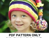 Knit Hat Knitting Pattern - Stocking Hat Pattern - the LUCY Hat (Newborn Baby Toddler Child & Adult sizes incl'd)