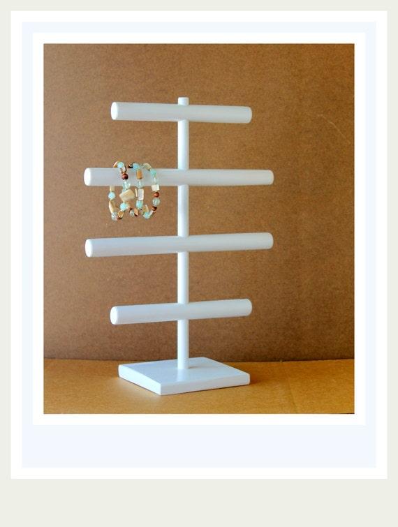 organisateur de bijoux support de bracelet large blanc. Black Bedroom Furniture Sets. Home Design Ideas