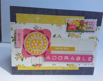 Handmade Baby Card, All Occasion, For Her