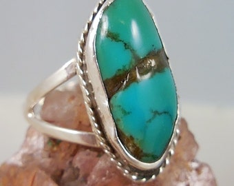 Turquoise Native American Sterling Silver Ring