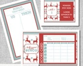 Christmas Bunco Score Card Set - Ugly Sweater - 'Tis the Season - Us Them Tally Sheet and Table Cards - Instant Download -  #00102-ID