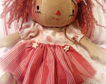 "Primitive ""Sadie Sue"" Raggedy Doll Instant download e-Pattern, Primitive Patterns"