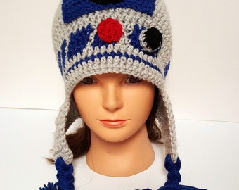 Made to Order Crochet R2D2 Hat