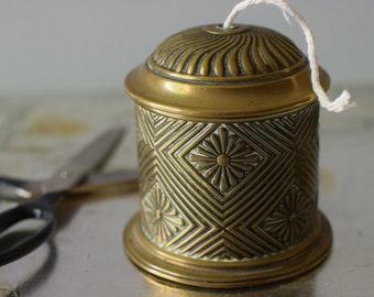 Vintage String Holder Twine Dispenser Brass