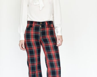 70s Plaid bell bottoms by Lee