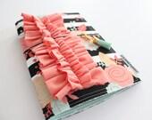 striped floral MPruffledori  -- fauxdori traveler's notebook