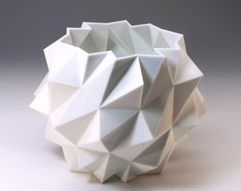 Snow Ball 3d Modern Interior Design Polygon Planter 3D Printed