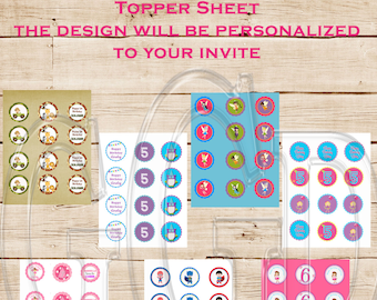 Add a Cupcake Topper Page image-Digital File