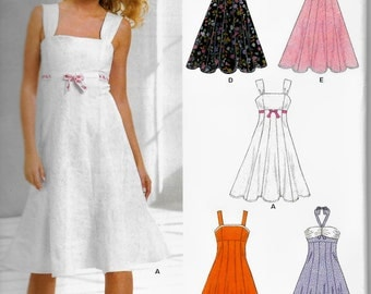 Simplicity 6589 New Look  Misses Sundress, Party dress Size 8 to 18 UNCUT New