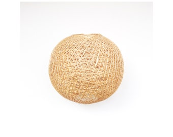 Vintage Rattan Hanging Lamp Shade / Sphere / Spaghetti