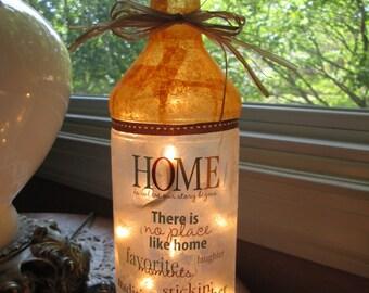 Wine Bottle Light~Family,lighted bottles,lighted wine bottles,decorated wine bottles,decorated bottles,wine bottle lamp,lamp,lamps
