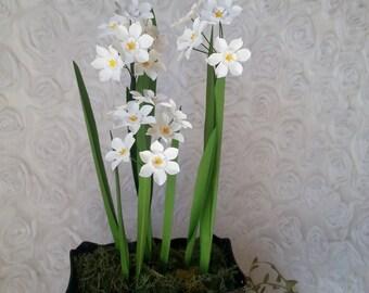PAPERWHITES - Handmade Paper Flower -