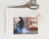 Kitchen Art.Photographic postcard.Apple Cake.Postcard Format.Fine art postcard. Photo.Original fine art photograph taken and processed by me