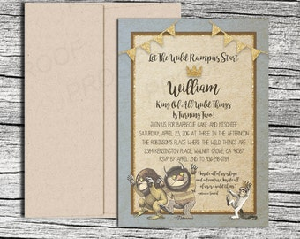 Wild Thing Glitter Invitations and Thank You cards (sold separately)