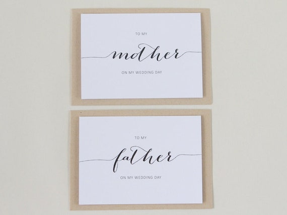 Personalised Thank You MOTHER FATHER Wedding Cards |  Mum, Dad, Custom Card, Parents, In Laws, Wedding Day, Bridal Party