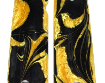 Gold & Black Pearl 1911 Grips (Full Size)
