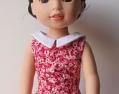 "1930's Ruffled Dress Fits Wellie Wishers And 14.5"" Dolls"