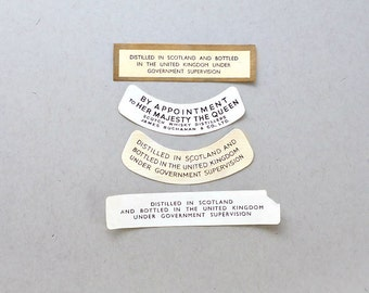 74 Scotch Whisky Bottle Neck Labels, Customs and Excise