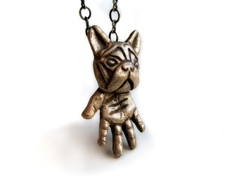 French bulldog necklace surreal