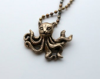octopus cat octopussy necklace