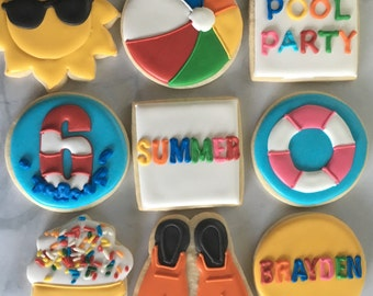 Summer Pool Party Sugar Cookie Collection