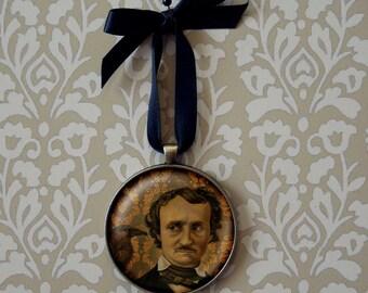 Gothic Ornament, Edgar Allan Poe, Poe Ornament, Victorian Decor, Gothic Decor, Literary Gift, Bibliophile Gift, Teachers Gift, Writers Gift
