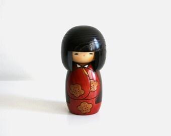Japanese Geisha Wooden Doll