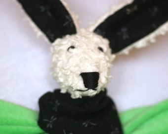 Green Snuggler Bunny (soother attached)