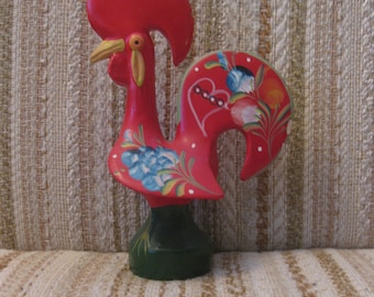 Red Painted Portuguese Rooster