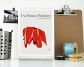 Art Print The Eames Elephant by Ray and Charles Eames - Classic American Design - Home Decor - Nursery Decor - Vintage Design Animal Print