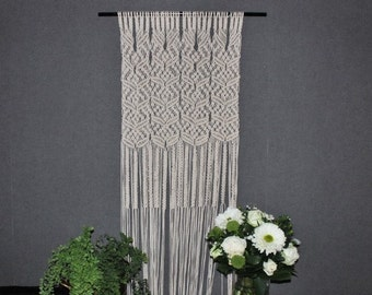 Macrame wall hanging- Giant - Bohemian macrame wall hanging - Handmade - Wall Art - Boho Macrame home decor - Ivory - White, Easter gift
