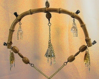 Bamboo Mobile #63  With Crystals  Free Shipping!