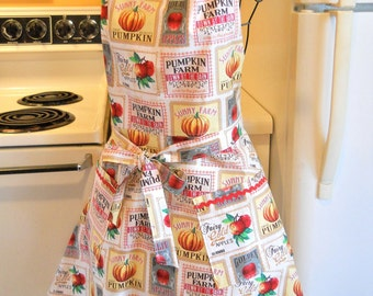 Women's Country Chic Fall Thanksgiving Apron