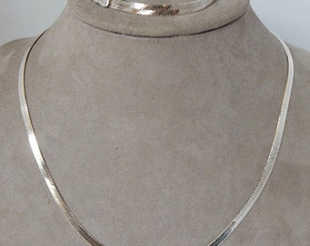 925 Sterling Silver Serpentine Necklace & Bracelet Chains