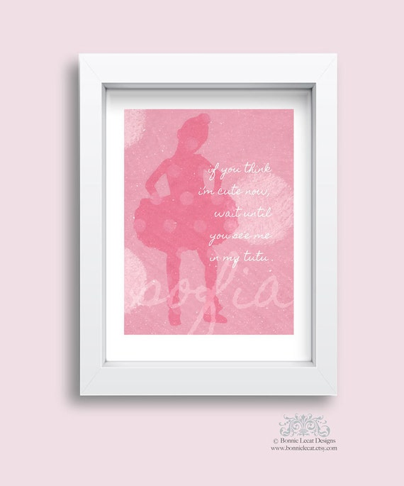 Ballerina Nursery Decor Personalized If You Think By