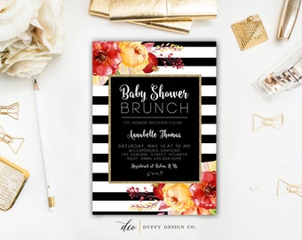 Baby Shower Invitation, Baby Shower Brunch Invite, Baby Shower Invite, Gender Neutral Baby Shower Invitation, Fall Baby Shower Invitation