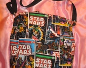 """Two Purses in one reversible bags, """"STAR WARS the force is with you"""" bag Medium size great Gift, free shipping"""