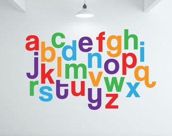 Alphabet Wall Decals alphabet wall decal by designed