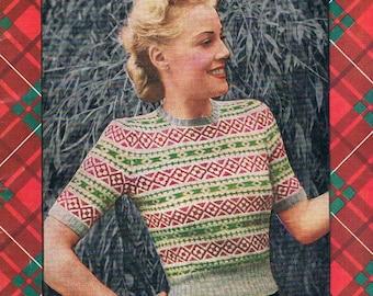 1950's Patons Scottish Fair Isles - Knitting Book No. 240